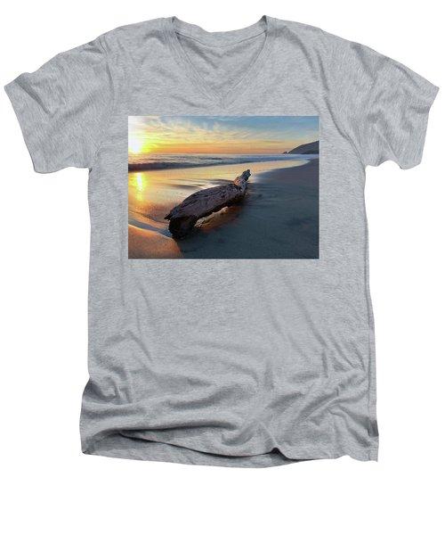 Drift Wood At Sunset II Men's V-Neck T-Shirt