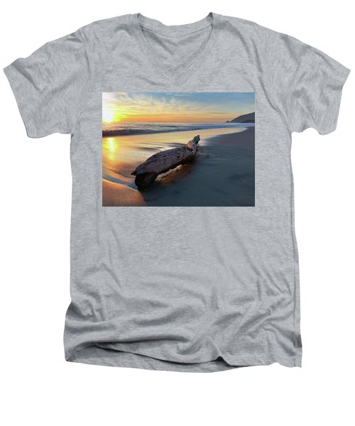 Drift Wood At Sunset II Men's V-Neck T-Shirt