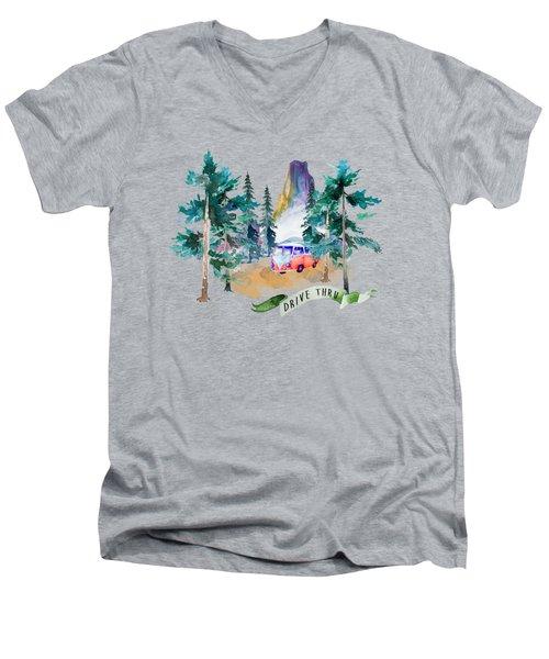 Drive Thru Men's V-Neck T-Shirt