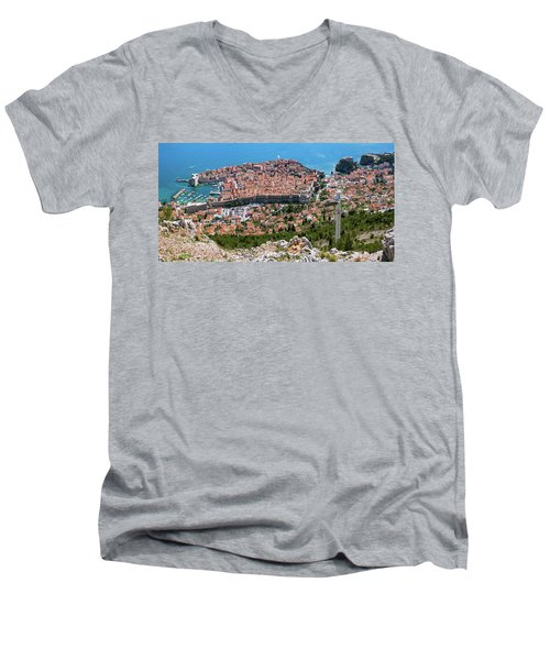 Dubrovnik Panorama From The Hill Men's V-Neck T-Shirt
