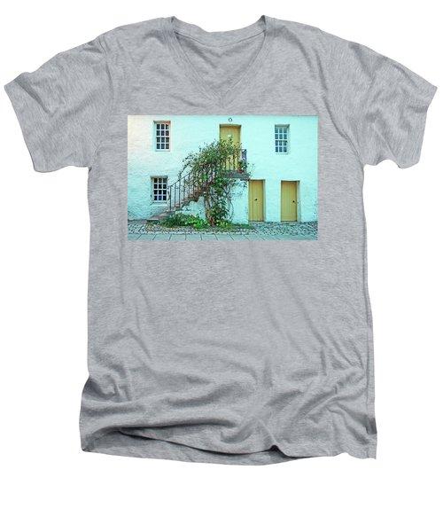 Dunkeld. The Cathedral Square. Men's V-Neck T-Shirt