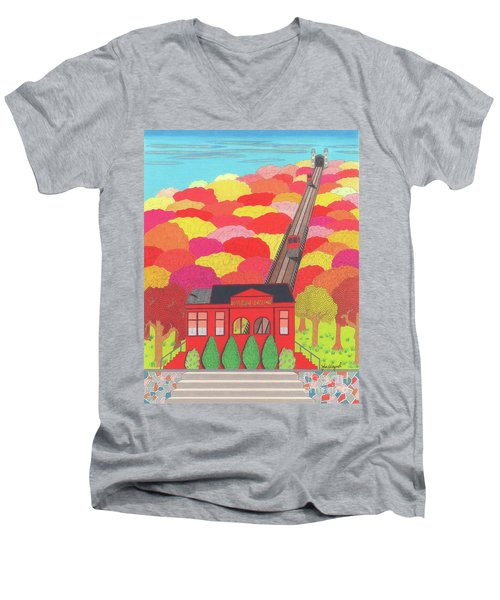 Duquesne Incline Men's V-Neck T-Shirt