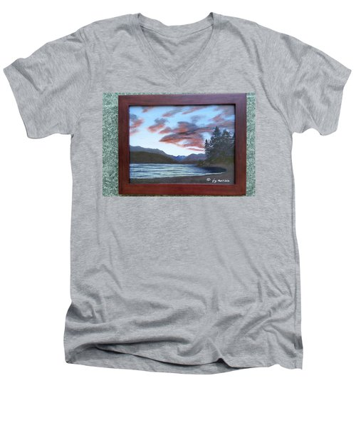 Dutch Harbour, Evening Sky Men's V-Neck T-Shirt