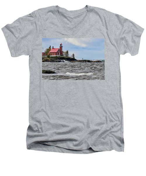Eagle Harbor Lighthouse Men's V-Neck T-Shirt