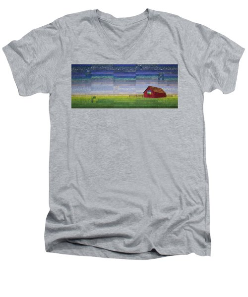 Early Morning Nine Patch Men's V-Neck T-Shirt