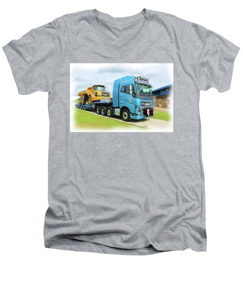 Earthmover Men's V-Neck T-Shirt