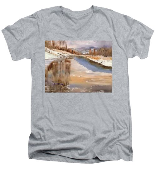 Edge Of Winter Men's V-Neck T-Shirt