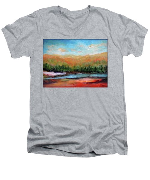 Edged Habitat Men's V-Neck T-Shirt