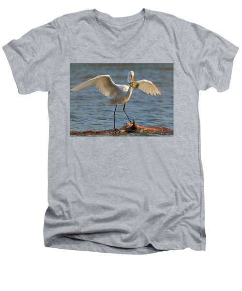 Egret  Men's V-Neck T-Shirt