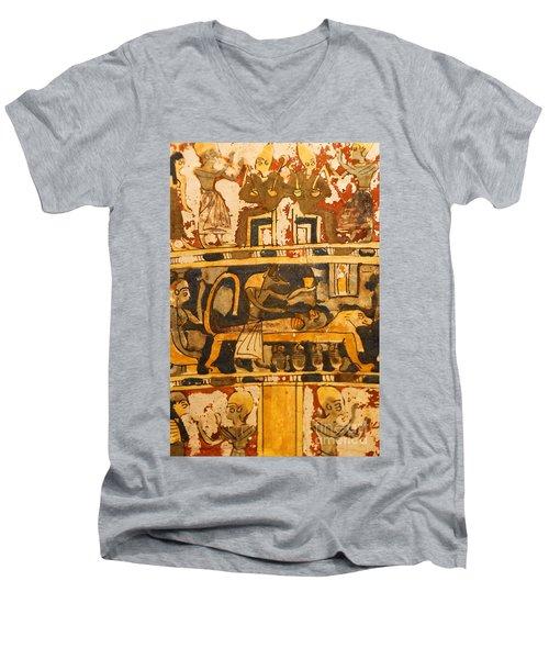 Egyptian Wall Art Men's V-Neck T-Shirt