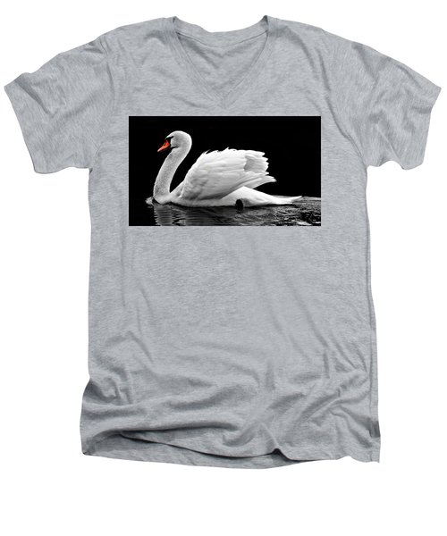 Elegant Swan Men's V-Neck T-Shirt