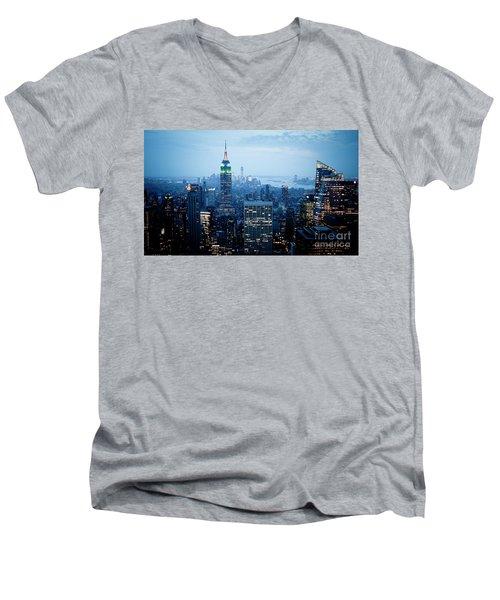 Empire In Blue Men's V-Neck T-Shirt