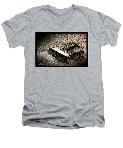 End Of The Line Mine Men's V-Neck T-Shirt