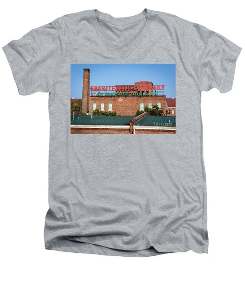 Enterprise Mill - Graniteville Company - Augusta Ga 2 Men's V-Neck T-Shirt