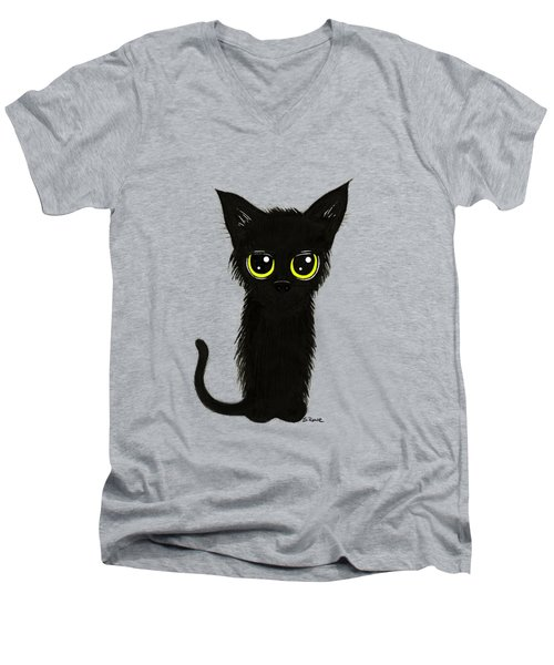 Enthralling Black Kitty Men's V-Neck T-Shirt