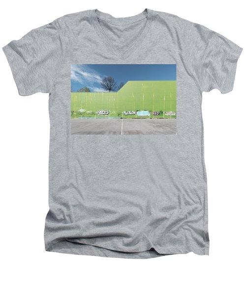 Euro New Topographics 26 Men's V-Neck T-Shirt