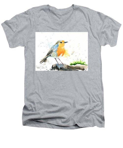 European Robin Men's V-Neck T-Shirt