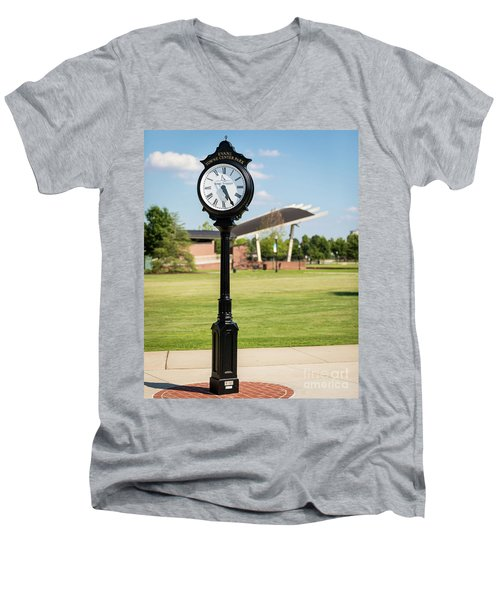 Evans Towne Center Park Clock - Columbia County Ga Men's V-Neck T-Shirt