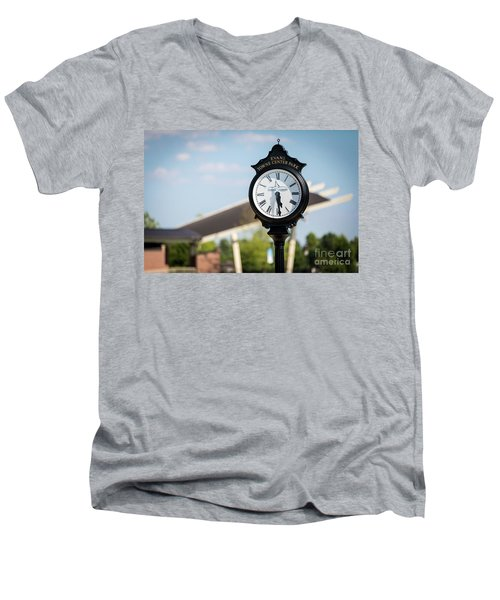 Evans Towne Center Park Clock - Evans Ga Men's V-Neck T-Shirt