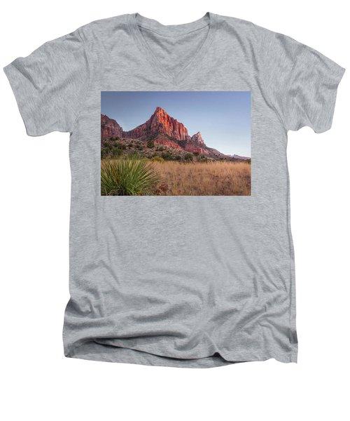 Evening Vista At Zion Men's V-Neck T-Shirt