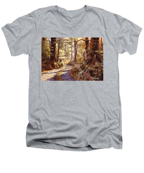 Explore With Me Men's V-Neck T-Shirt