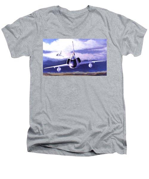 F-106a Head-on Men's V-Neck T-Shirt