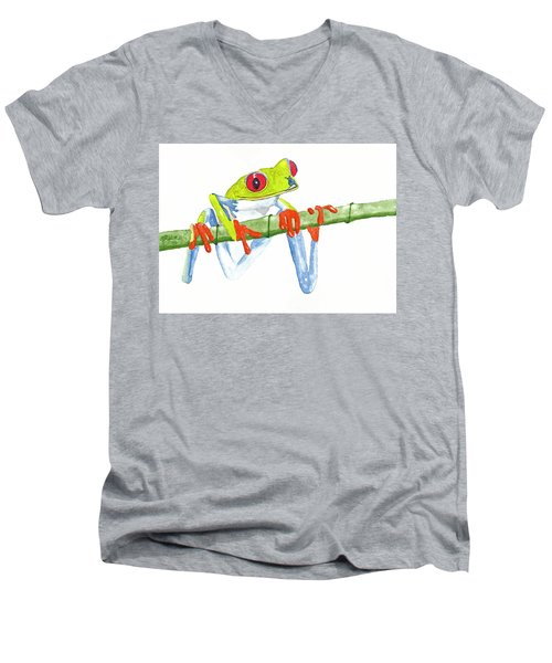 Fabio T Frog Men's V-Neck T-Shirt