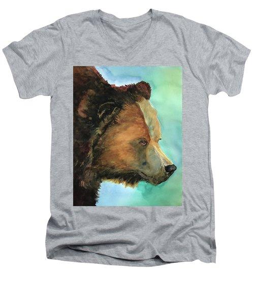 Face To Face Bear Men's V-Neck T-Shirt
