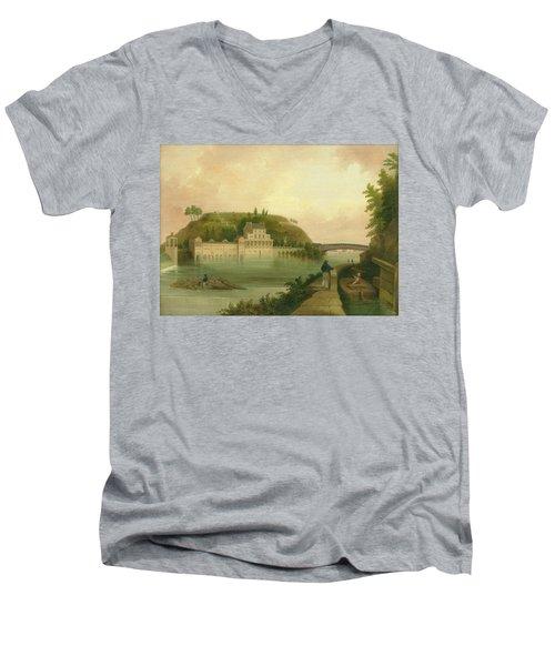 Fairmount Waterworks About 1838 Men's V-Neck T-Shirt