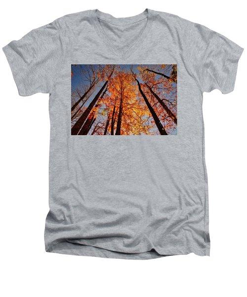 Fall Trees Sky Men's V-Neck T-Shirt