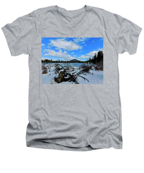Men's V-Neck T-Shirt featuring the photograph Fallen Timber by Dan Miller
