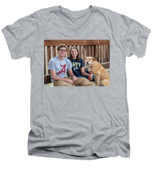 Family Dog Men's V-Neck T-Shirt