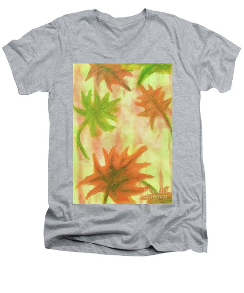 Fanciful Fall Leaves Men's V-Neck T-Shirt