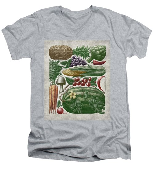 Farmer's Market - Color Men's V-Neck T-Shirt