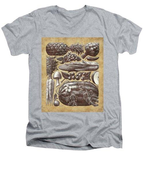 Farmer's Market - Sepia Men's V-Neck T-Shirt