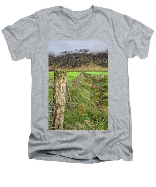 Fence Of Iceland Men's V-Neck T-Shirt