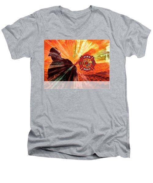 Fire Fighting 1 Men's V-Neck T-Shirt