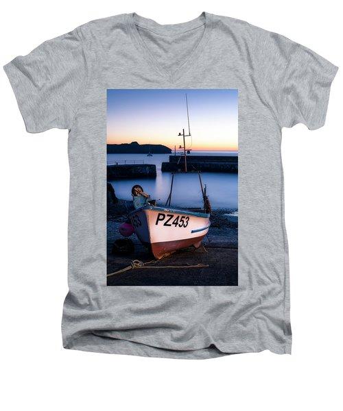 Fishing Boat In Mullion Cove Men's V-Neck T-Shirt