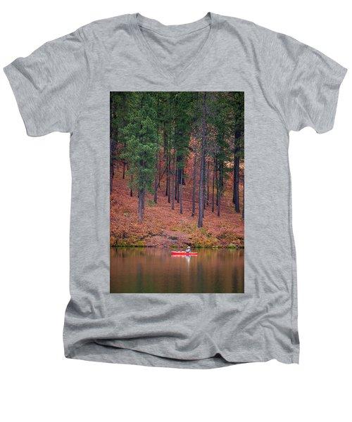 Fishing Fenton Lake Men's V-Neck T-Shirt