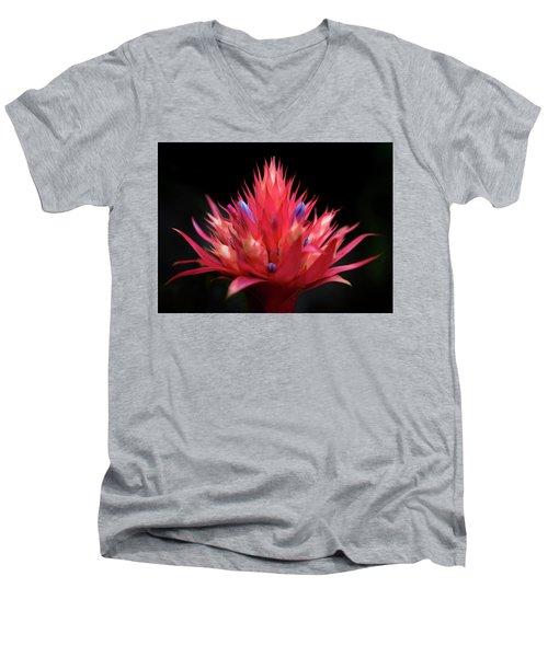 Flaming Flower Men's V-Neck T-Shirt