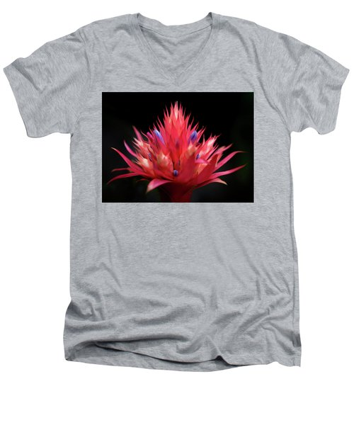 Flaming Flower Men's V-Neck T-Shirt