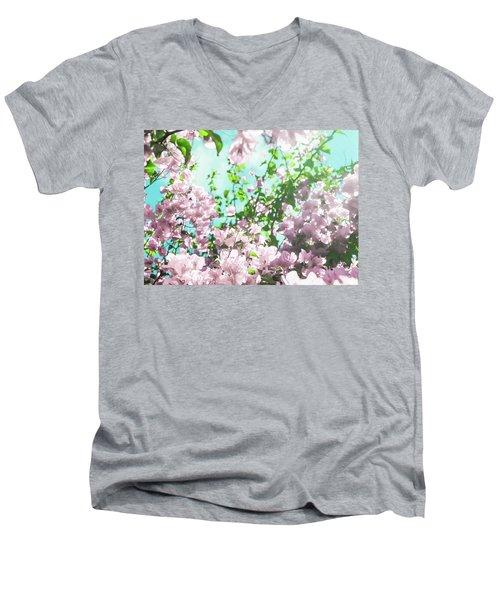 Floral Dreams V Men's V-Neck T-Shirt