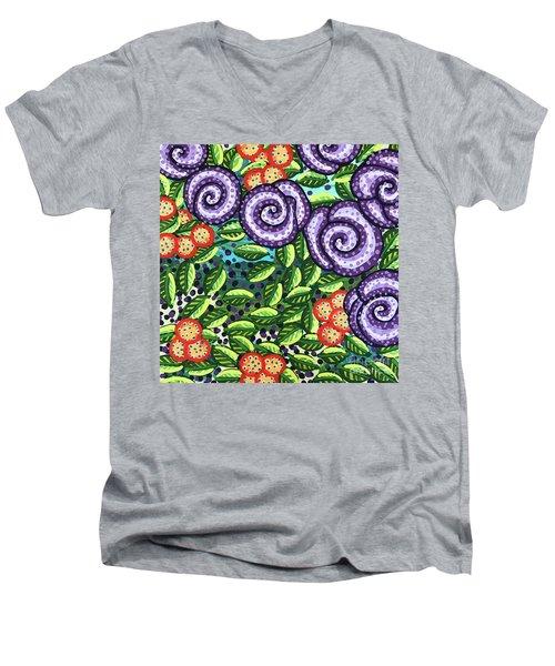 Floral Whimsy 11 Men's V-Neck T-Shirt