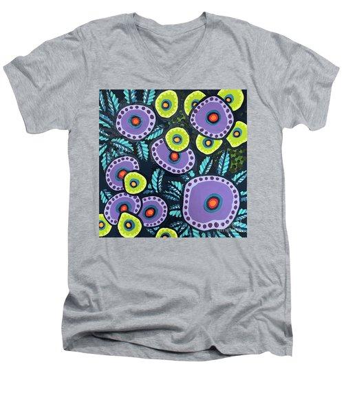 Floral Whimsy 12 Men's V-Neck T-Shirt