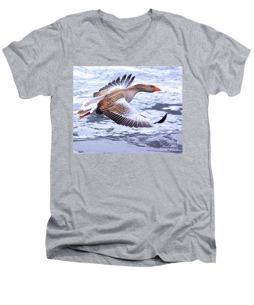 Fly-by Men's V-Neck T-Shirt