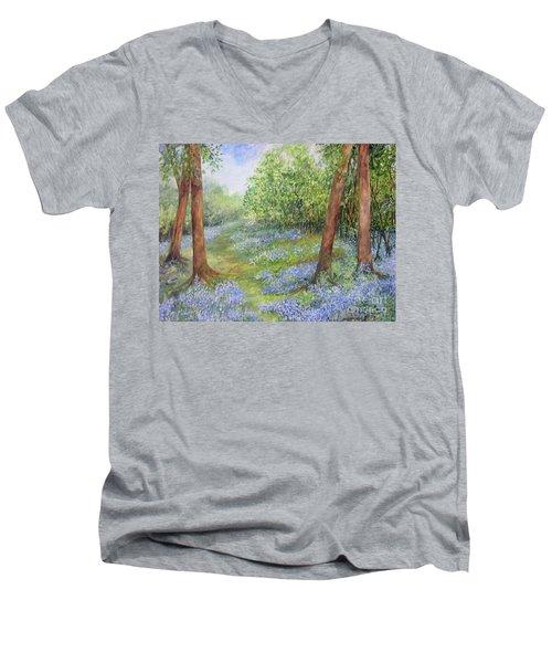 Follow The Bluebells Men's V-Neck T-Shirt
