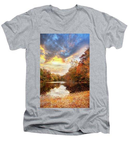 For The Love Of Autumn Men's V-Neck T-Shirt