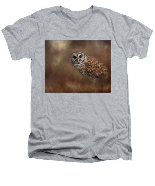 Foraging In The Field Men's V-Neck T-Shirt