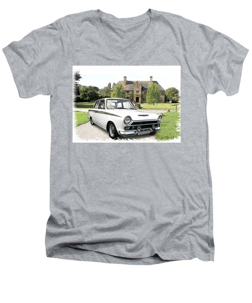 Ford 'lotus' Cortina Men's V-Neck T-Shirt