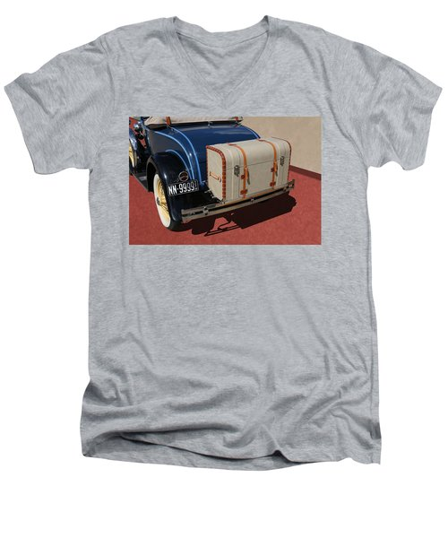 Men's V-Neck T-Shirt featuring the photograph 1931 Ford Model A Roadster by Debi Dalio